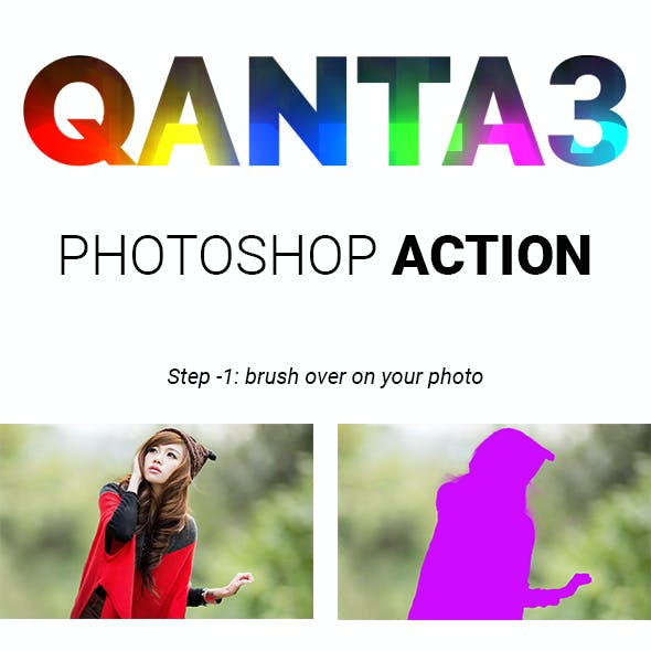 QANTA3   light glowing Effect Photoshop Actions