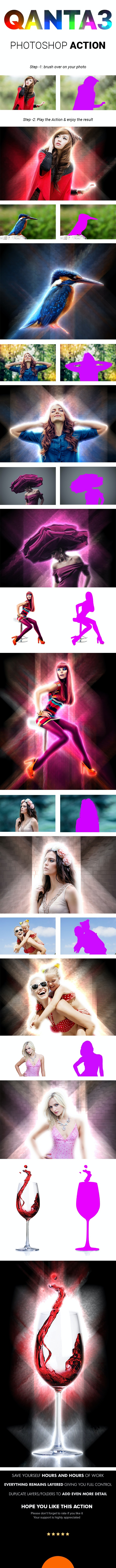 QANTA3 | light glowing Effect Photoshop Actions - Photo Effects Actions