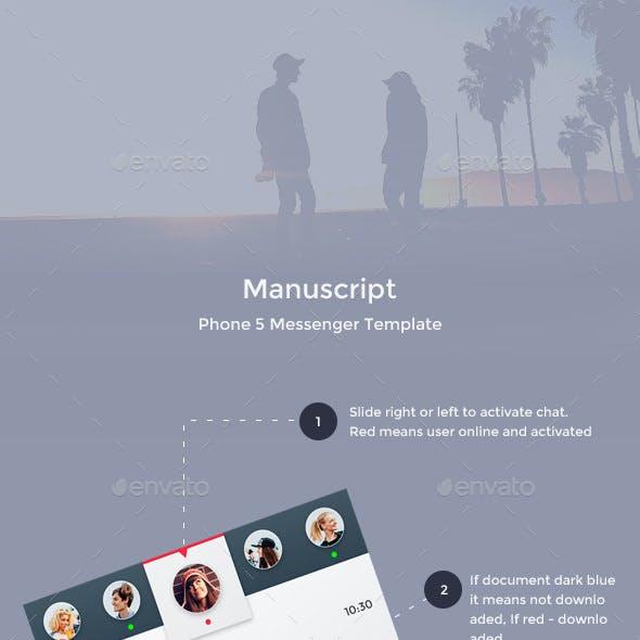 Manuscript - Phone 5 Messenger Template