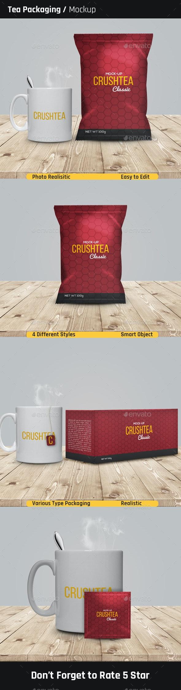 Tea Packaging Mock-Ups - Food and Drink Packaging