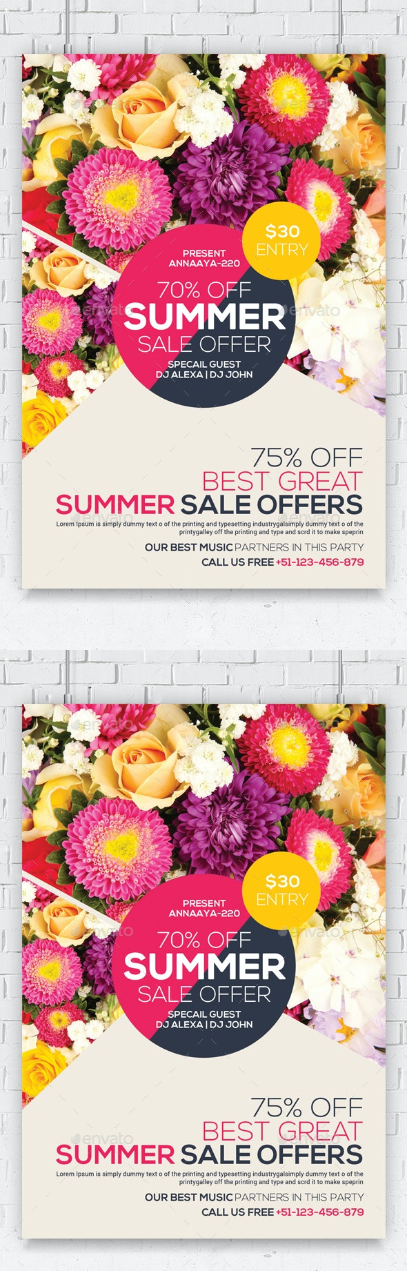 Summer Sales Flyer - Commerce Flyers