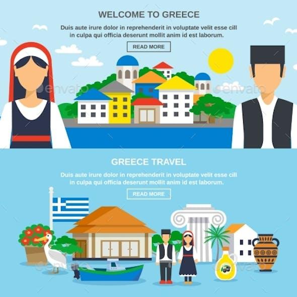 Greece Travel Banner Set