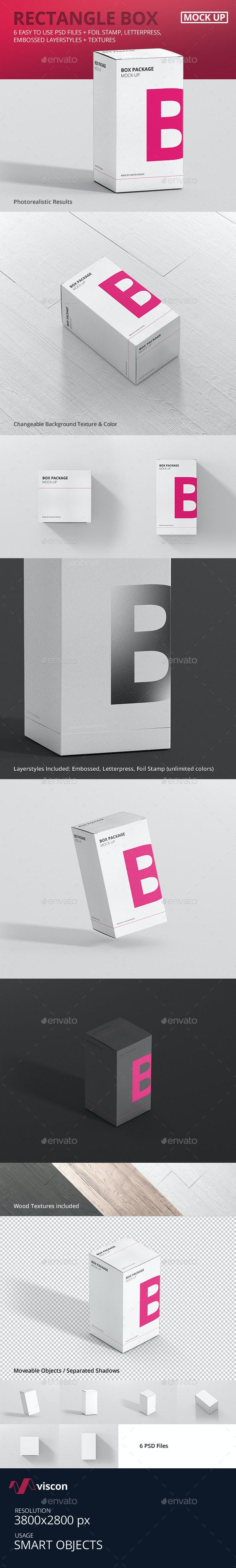 Package Box Mock-Up - Rectangle - Miscellaneous Packaging