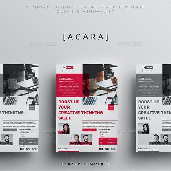 Seminar Business Event Flyer
