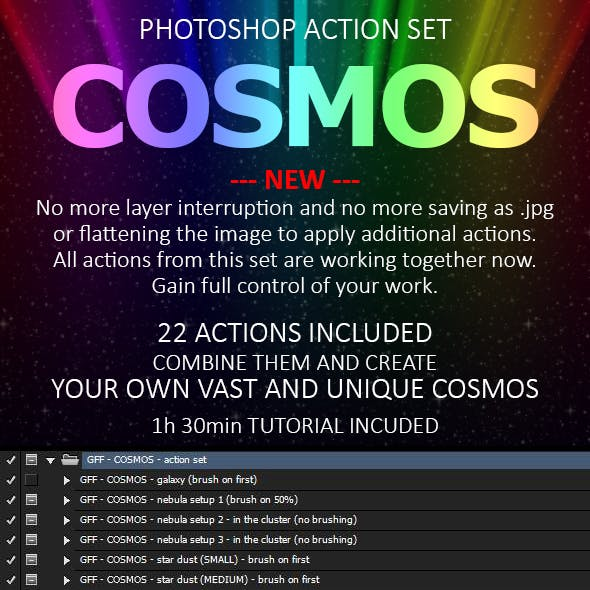 Cosmos Photoshop Action Set