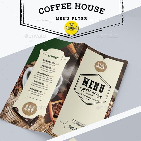 Coffee Menu Flyer Bifold
