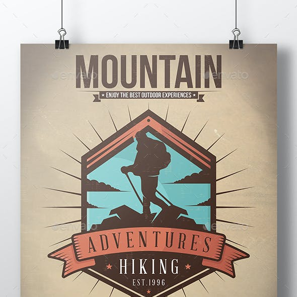 Mountain Walk Flyer Template