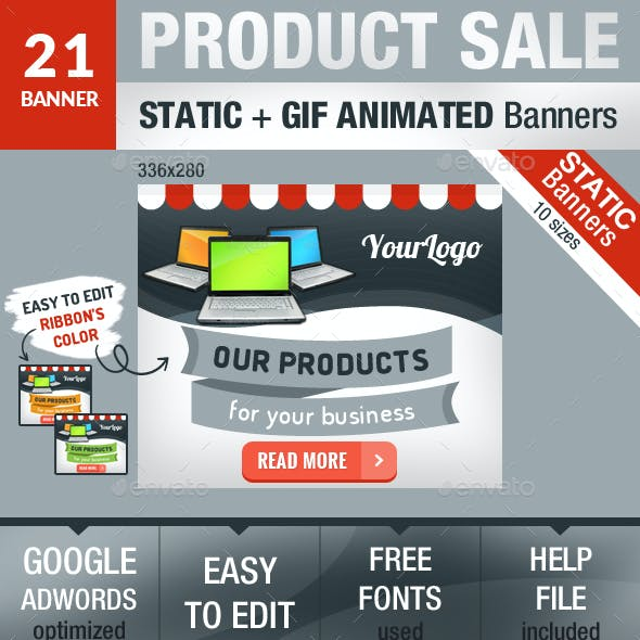 Product Sale Static and GIF Animated Banners