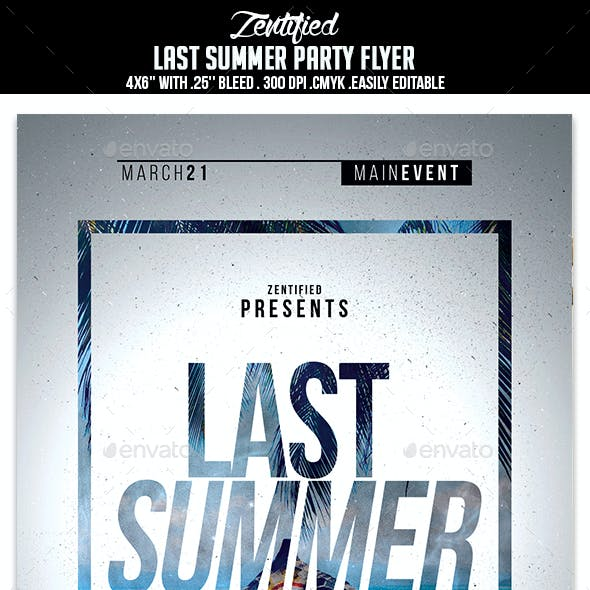 Last Summer Party Flyer
