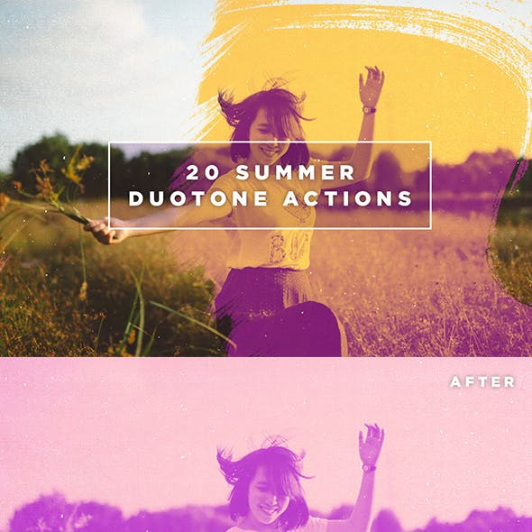 20 Summer Duotone Actions