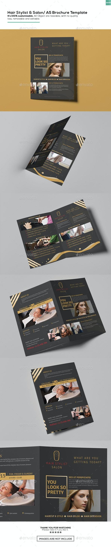 Hair Stylist & Salon/ A5 Brochure Template - Informational Brochures