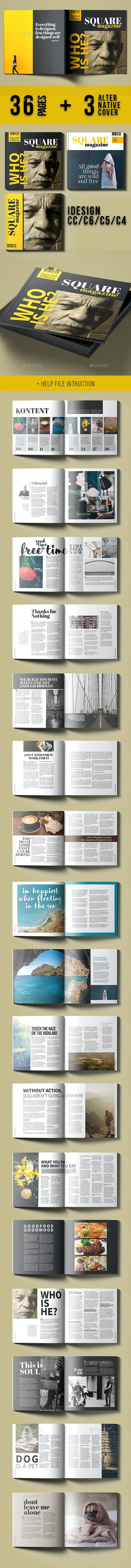 Square Magazine - Magazines Print Templates