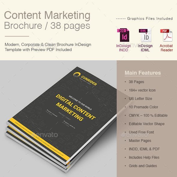 Dark Content Marketing Brochure