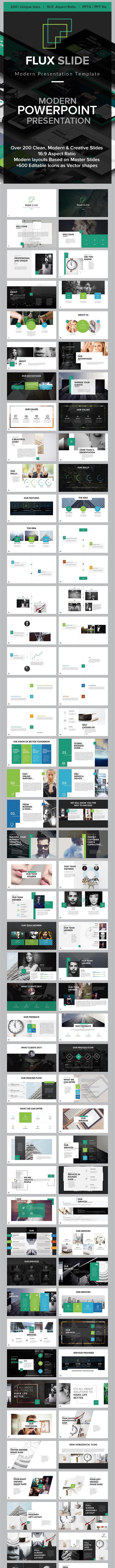 Flux Slides PowerPoint Template - Creative PowerPoint Templates