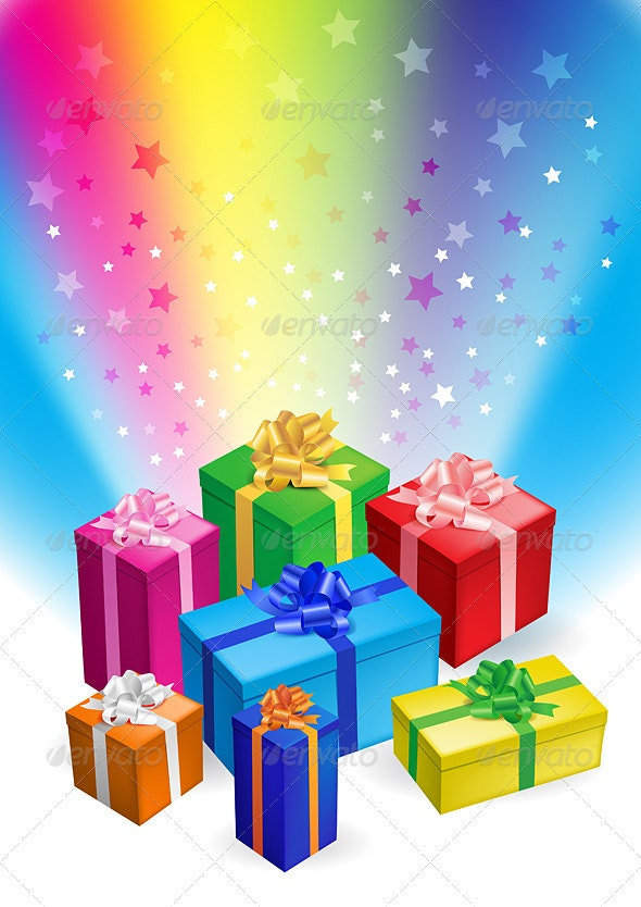 Gift boxes - Characters Vectors