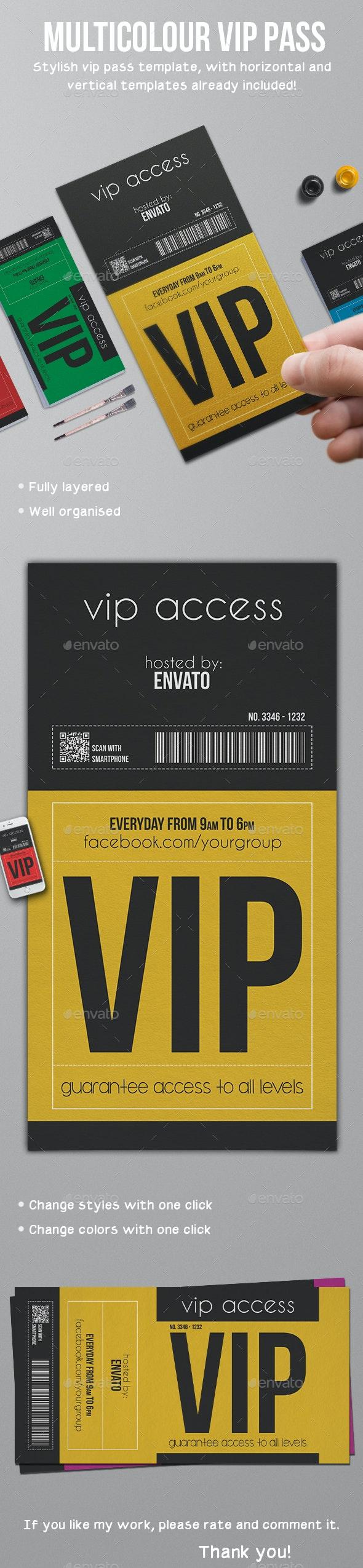 Multipurpose Vip Pass - Invitations Cards & Invites