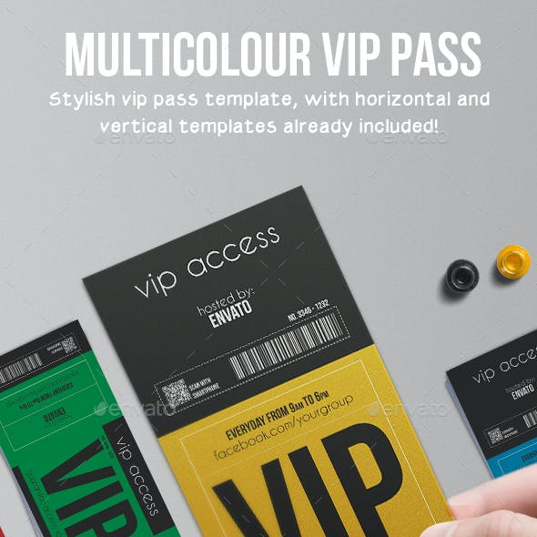 Multipurpose Vip Pass