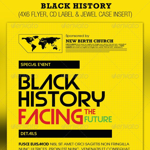 Black History Facing the Future Flyer and CD