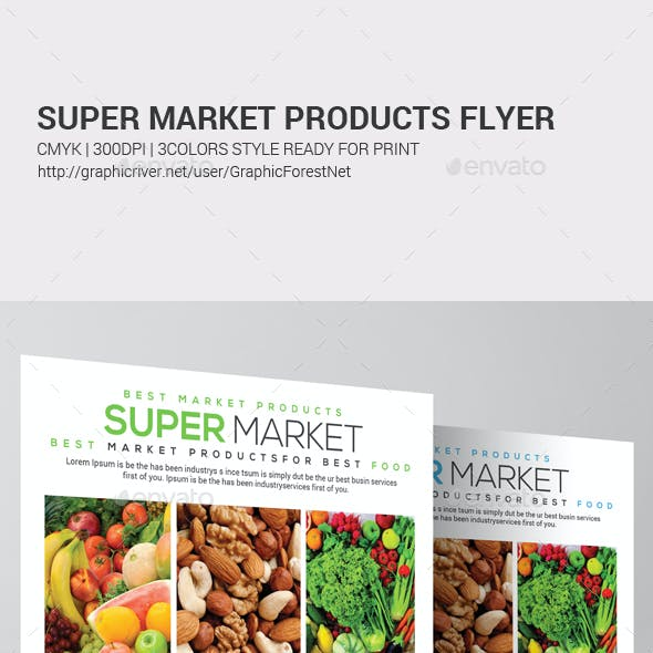 Grocery Store Promotion Flyer