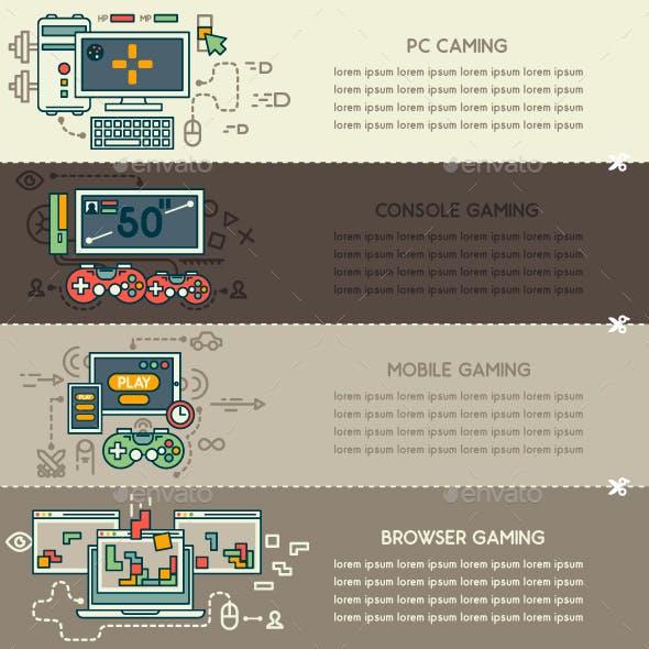 Set Eight of Internet Technology Banners