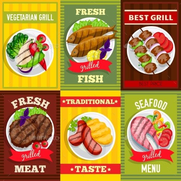 Barbecue Mini Posters Set