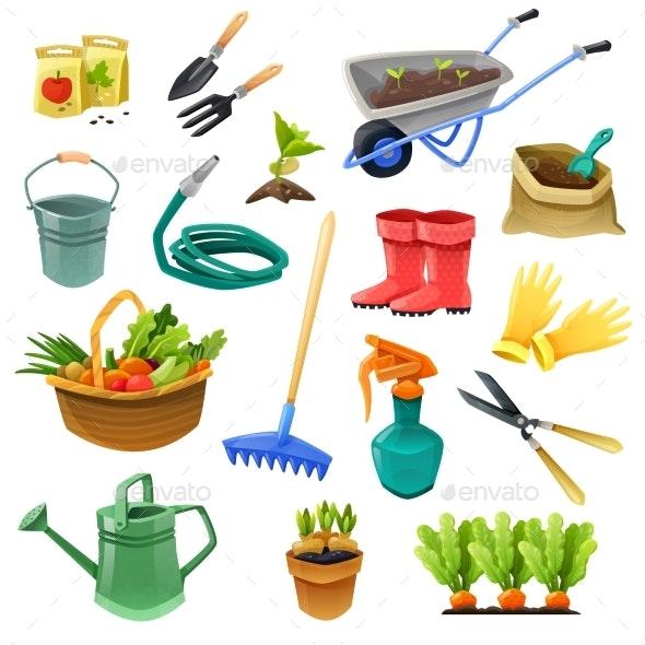 Gardening Decorative Color Icons - Decorative Symbols Decorative