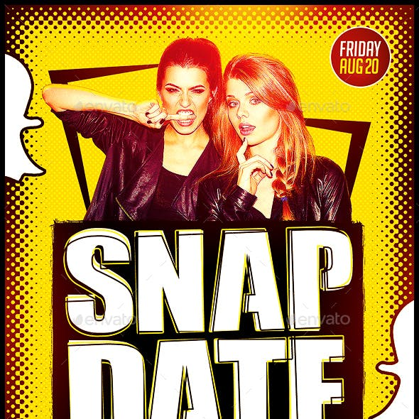 SnapDate Party Flyer