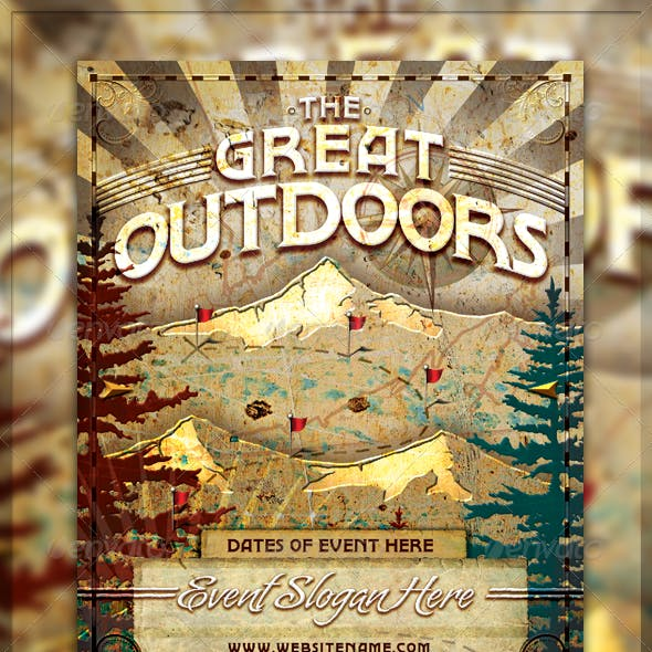 Vintage Great Outdoors Nature Flyer