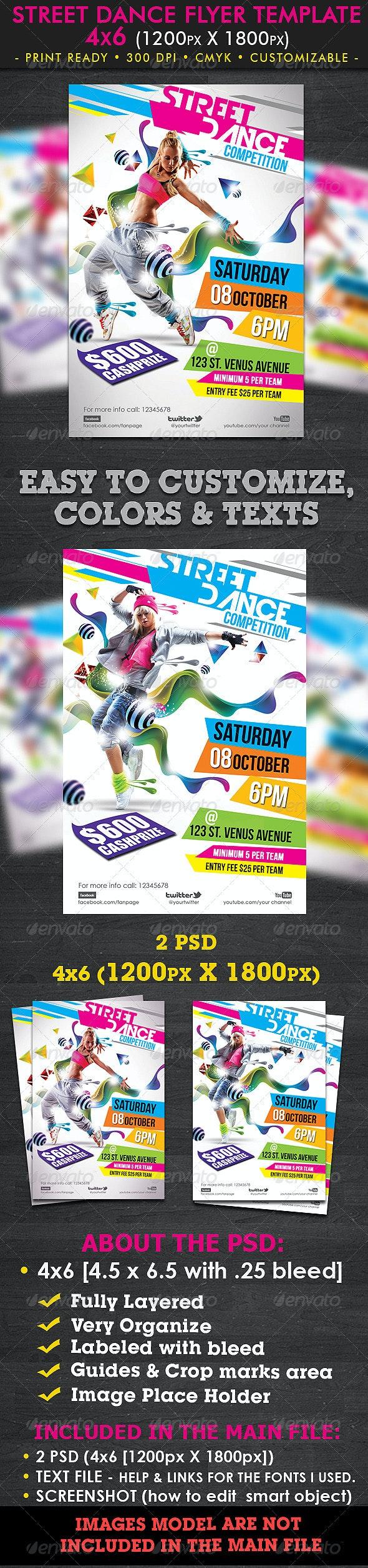 Street Dance Flyer Template - Clubs & Parties Events