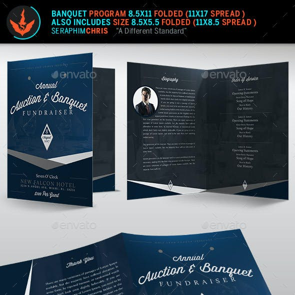 Auction plus Banquet Church Program Template