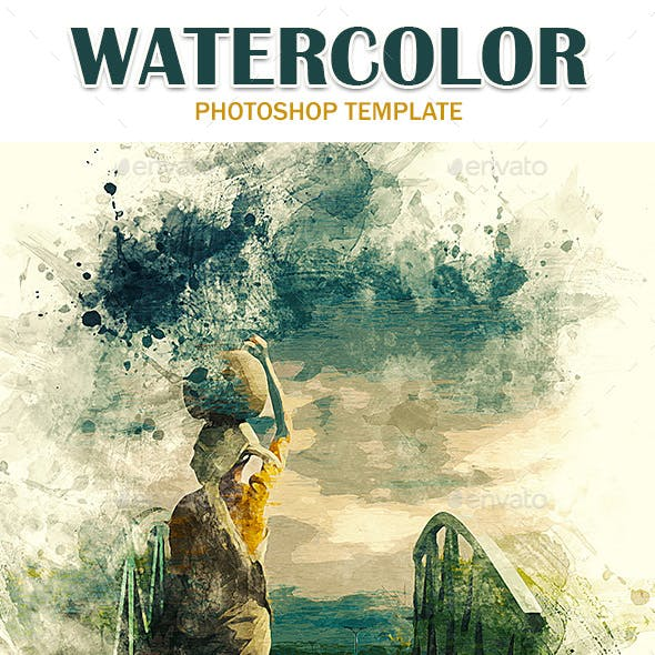 Watercolor Photoshop Templates