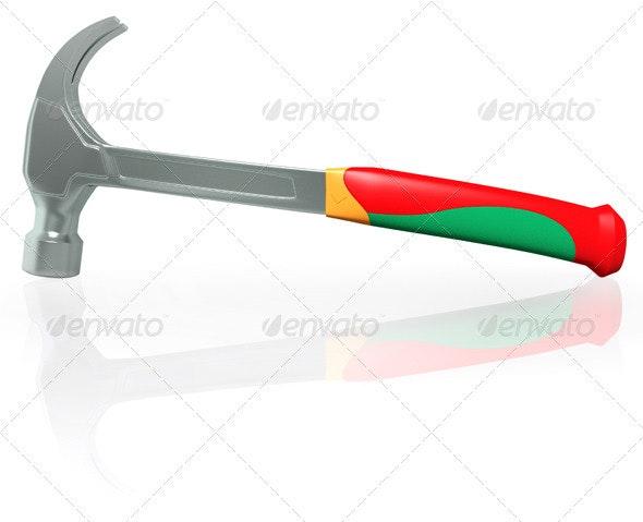 Steel Hammer - Objects 3D Renders