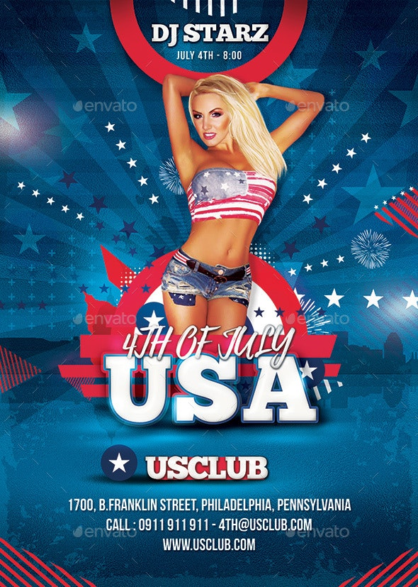 4th Of July Usa - Clubs & Parties Events