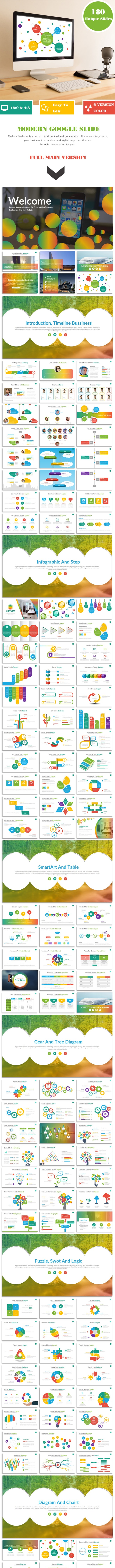 Modern google slide business presentation template for report and plan - Google Slides Presentation Templates