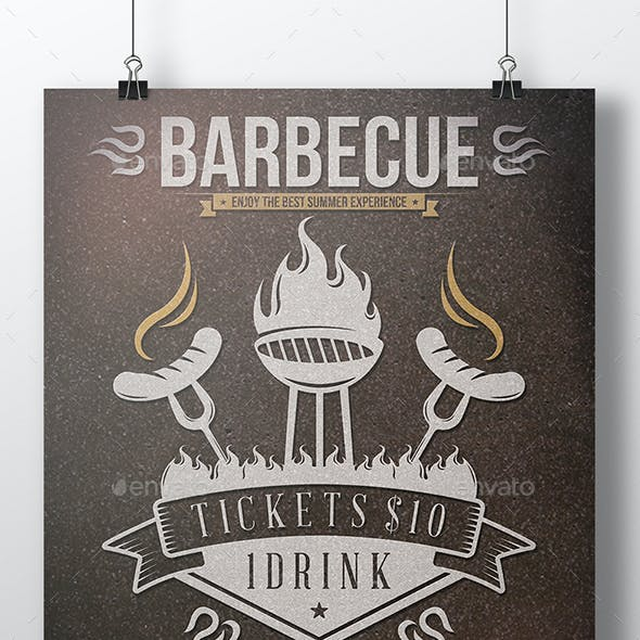 BBQ Summer Flyer Template