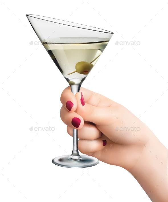 Hand Holding Martini