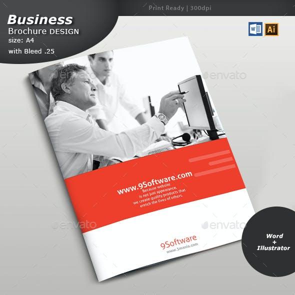 ERP Services Brochure Design