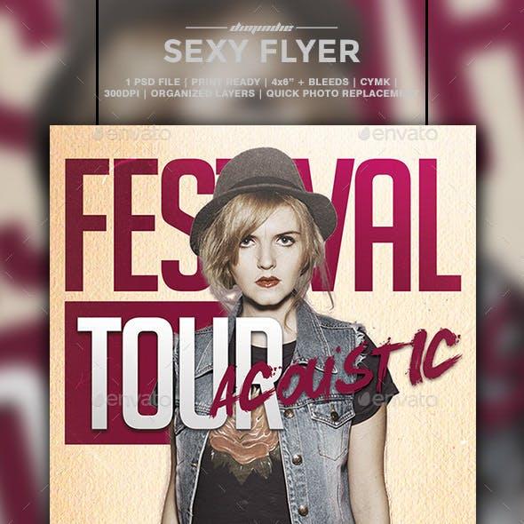 Festival Tour Flyer Template