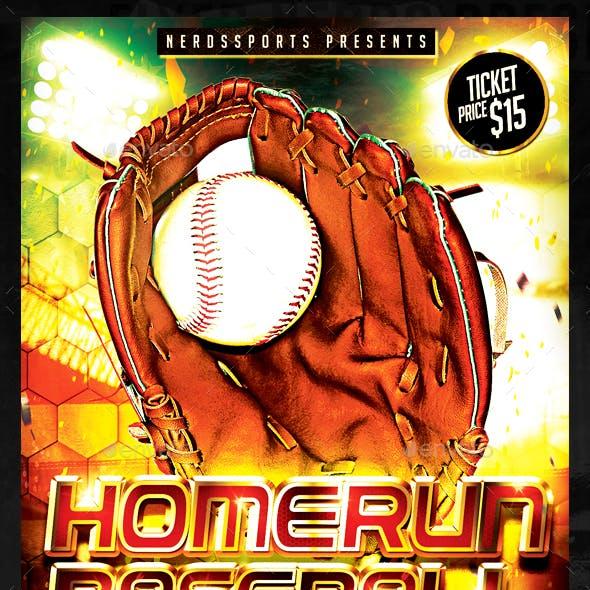 Home Run Baseball Sports Flyer