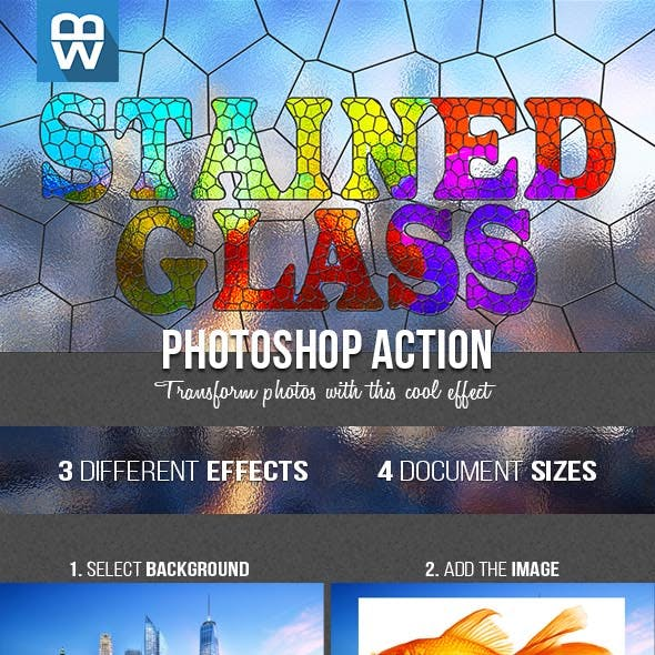 Stained Glass Photoshop Action