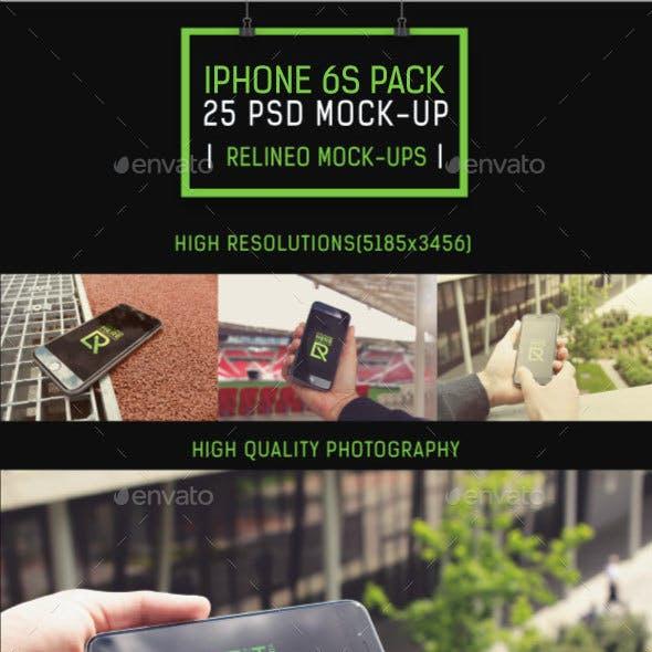 Phone 6S Display Mock-up Pack Vol.3