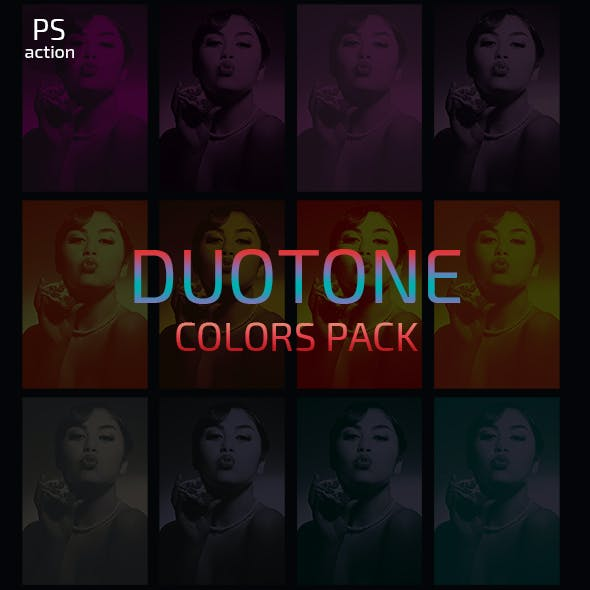 60 Duotone Color Photo Effects Actions Pack