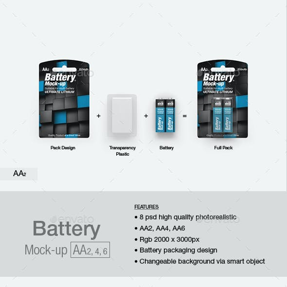 Battery AA Mock-up
