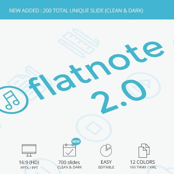 Flatnote 2 PowerPoint Template