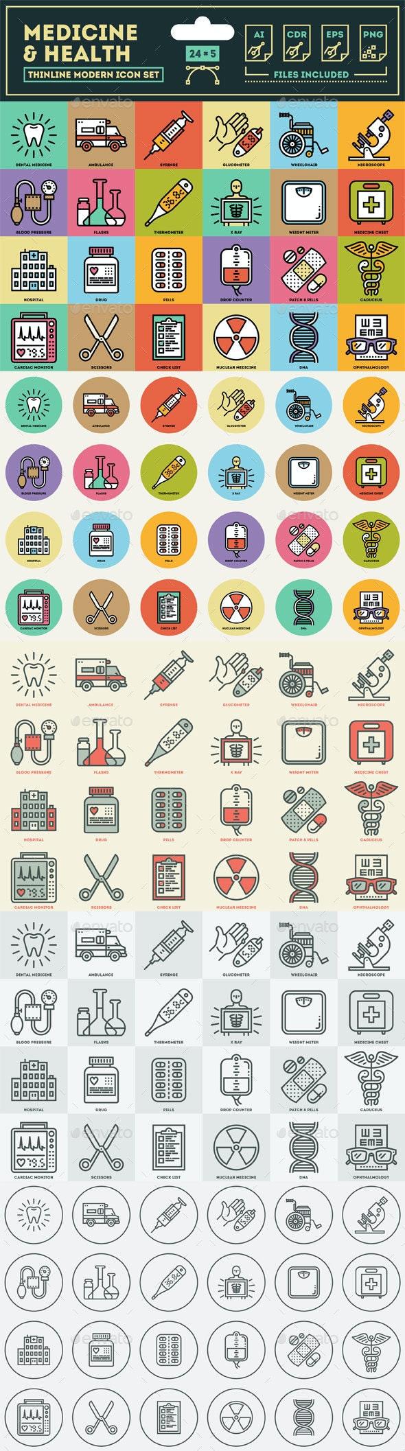 Medicine and Health Icon Set - Health/Medicine Conceptual