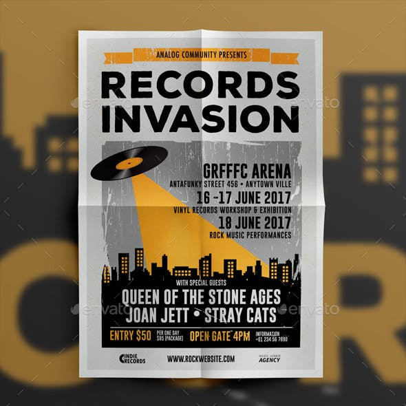 Indie Music Records Flyer Template