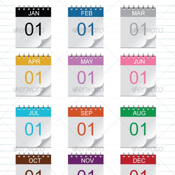 Reusable Calendar Icons