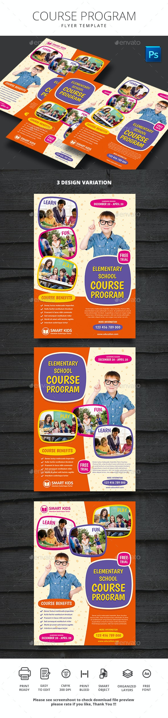 Course Program - Flyers Print Templates