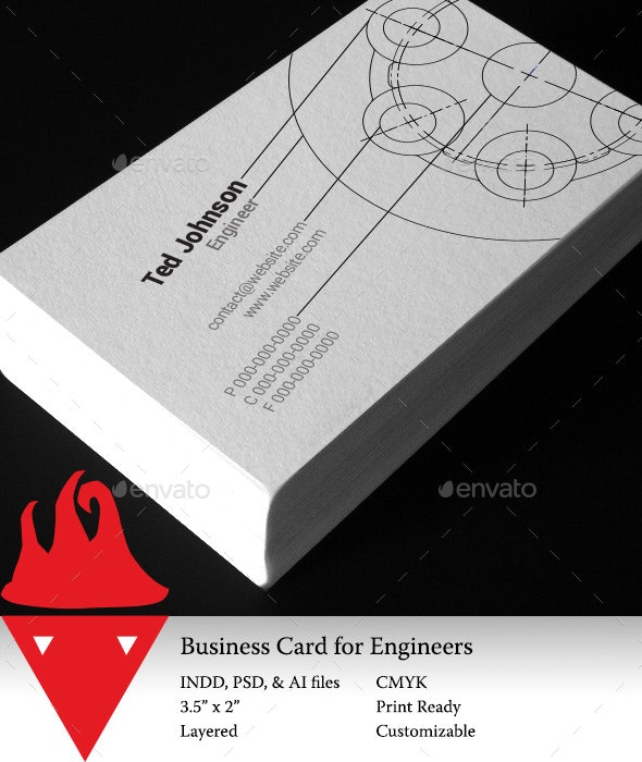 Business Card for Engineers - Industry Specific Business Cards