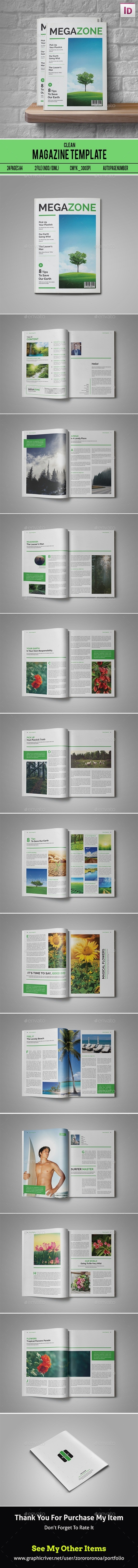 Clean & Simple Magazine Template - Magazines Print Templates